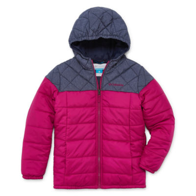 Columbia - Girls Water Resistant Midweight Puffer Jacket-Big Kid