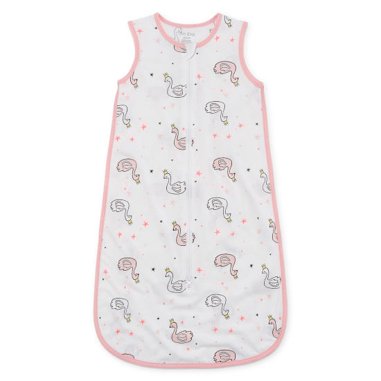 Okie Dokie Swan Full Zip Sleeveless Sleep Sack - Baby Girl