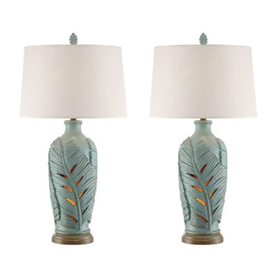 Seahaven Leaf Table Lamp Set