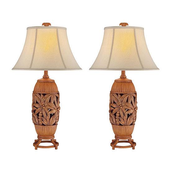 Seahaven Palm Tree Table Lamp Set