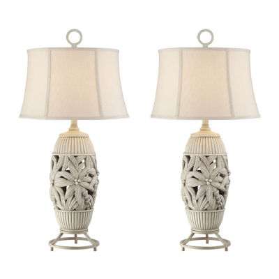 Seahaven Palm Tree Table Lamp Set