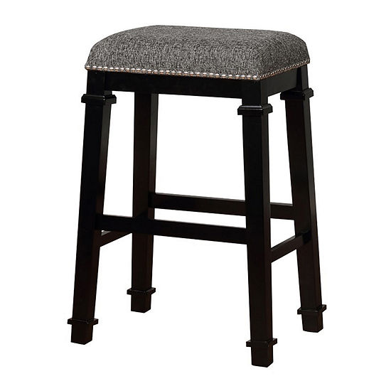 Kyley Tweed Nailhead Trim Backless Bar Stool
