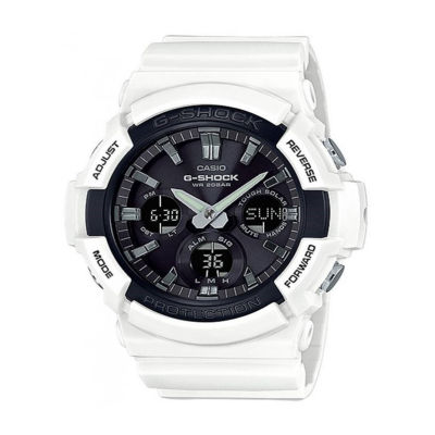Casio Mens White Strap Watch-Gas100b-7a