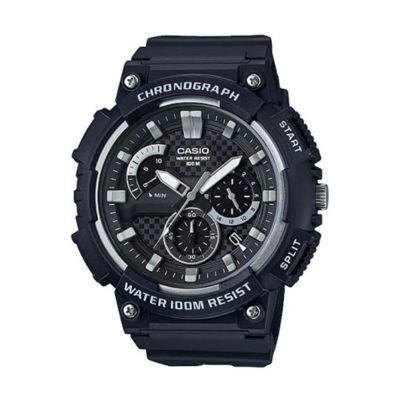Casio Mens Black Strap Watch-Mcw200h-1av