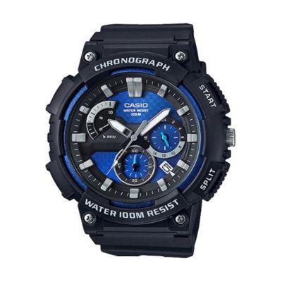 Casio Mens Black Strap Watch-Mcw200h-2av