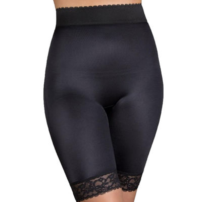 Rago High Waist Hidden Tummy Panel Stretch-Lace Light Control Thigh Slimmers - 518