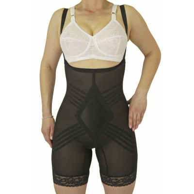 Rago Wear Your Own Bra Satin Panel Stretch-Lace Singlet Firm Control Body Shaper - 9070