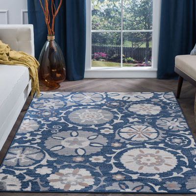 Tayse Wendy Transitional Floral Rug