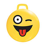 MegaFun USA 15-inch Yellow Emoji Hop Hop Bouncer -#Crazy