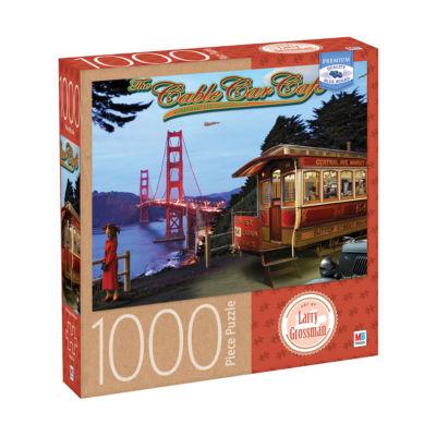 Milton Bradley Premium Blue Board Jigsaw Puzzle -Larry Grossman - The Cable Car Cafe: 1000 Pcs