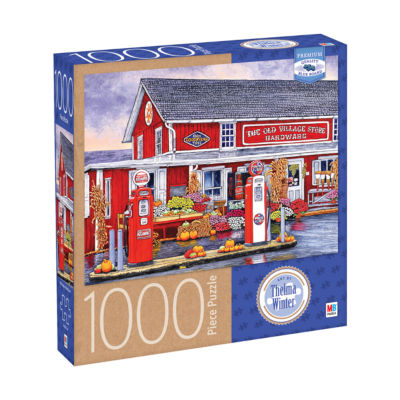 Milton Bradley Premium Blue Board Jigsaw Puzzle -Thelma Winter - Old Village Store Hardware  Bird-In-Hand  PA: 1000 Pcs