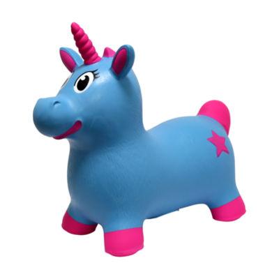 MegaFun USA JumPets Bouncer - Luna the Unicorn (Blue)