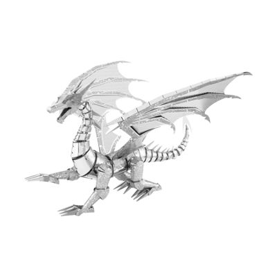 Fascinations ICONX 3D Metal Model Kit - Silver Dragon
