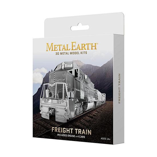 Fascinations Metal Earth 3d Metal Model Kit Freight Train Box Set