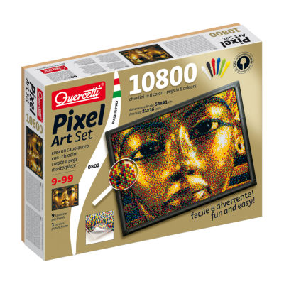 Quercetti King Tut Pixel Art Set: 10800 Pcs
