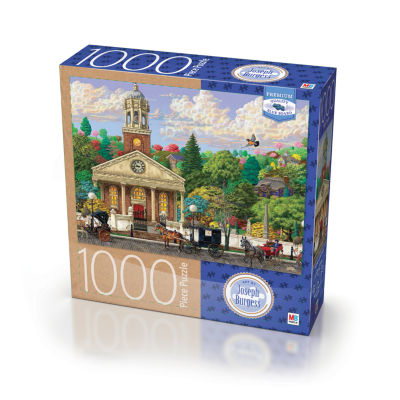 Milton Bradley Premium Blue Board Jigsaw Puzzle -Joseph Burgess - Church: 1000 Pcs