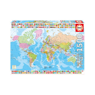 Educa Political Worldmap: 1500 Pcs