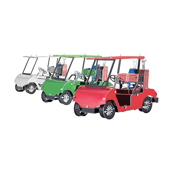 Fascinations Metal Earth 3d Metal Model Kit Golf Cart Set