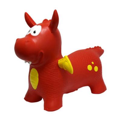 MegaFun USA JumPets Bouncer - Dexter the Dragon (Red)
