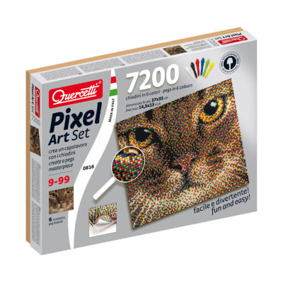 Quercetti Cat Pixel Art Set: 7200 Pcs