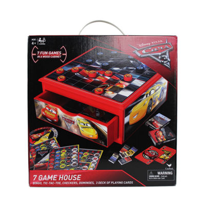 Cardinal Cars 3 7-in-1 Game House Wood Cabinet