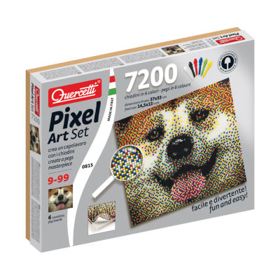 Quercetti Dog Pixel Art Set: 7200 Pcs