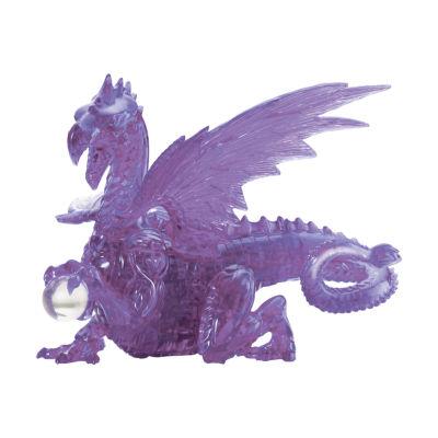 BePuzzled 3D Crystal Puzzle - Dragon (Purple): 56Pcs