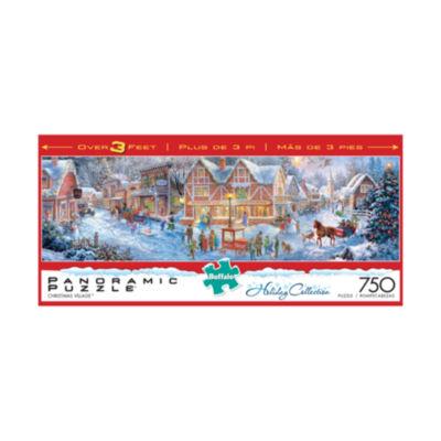 Buffalo Games Holiday Collection - Christmas Village Panoramic Puzzle: 750 pcs