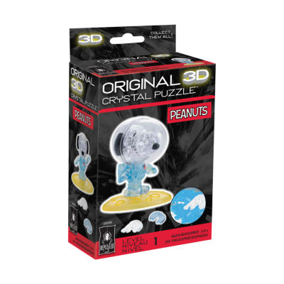 BePuzzled 3D Crystal Puzzle - Peanuts Astronaut Snoopy: 35 pcs