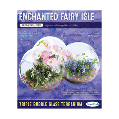 Dunecraft Triple Bubble Glass Terrarium - Enchanted Fairy Isle