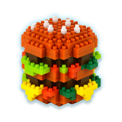 BePuzzled 3D Pixel Puzzle - Hamburger: 235 Pcs