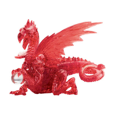 BePuzzled 3D Crystal Puzzle - Dragon (Red): 56 Pcs