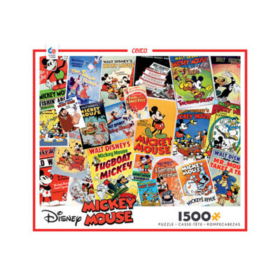 Ceaco Disney Mickey Mouse - Vintage Posters Collage: 1500 Pcs