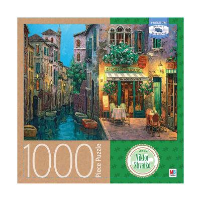 Milton Bradley Premium Blue Board Jigsaw Puzzle -Viktor Shvaiko - Twilight in Ghilini: 1000 Pcs