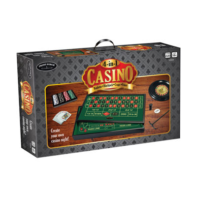 Front Porch Classics 4-in-1 Casino: Roulette  Blackjack  Craps  Poker