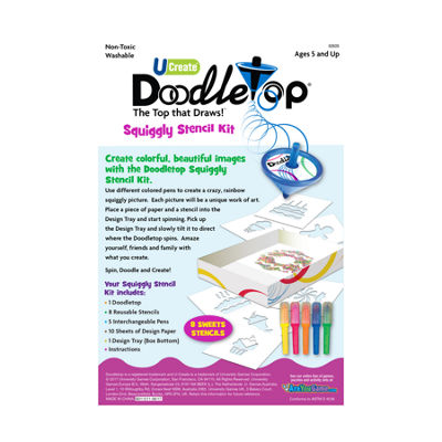 U-Create Doodletop Stencil Kit - Sweets