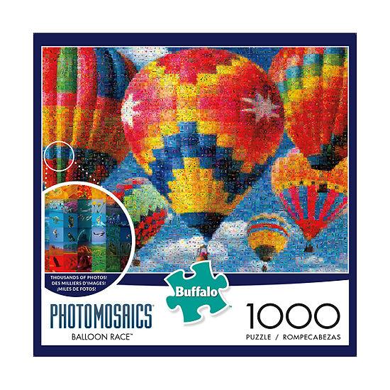 Buffalo Games Photomosaics Jigsaw Puzzle - Balloon Race: 1000 Pcs