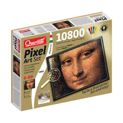 Quercetti Mona Lisa Pixel Art Set: 10800 Pcs