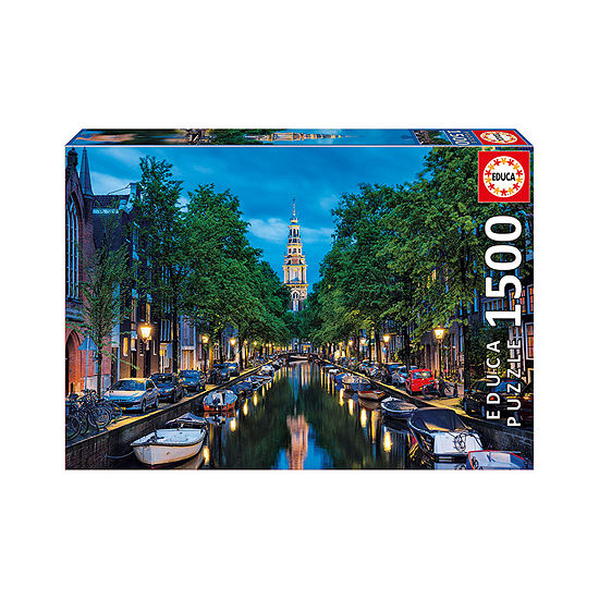 Educa Amsterdam Canal at Dusk: 1500 Pcs