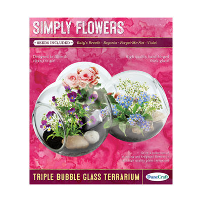 Dunecraft Triple Bubble Glass Terrarium - Simply Flowers