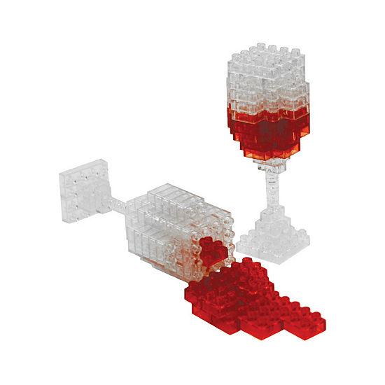 BePuzzled 3D Pixel Puzzle Mini - Wine: 137 Pcs