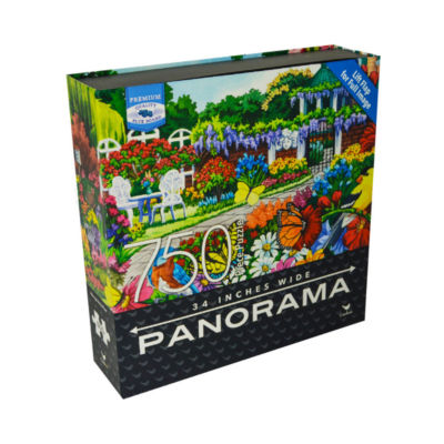 Cardinal Premium Blue Board Panorama Jigsaw Puzzle- Nancy Wernersbach - Glorious Garden: 750 Pcs