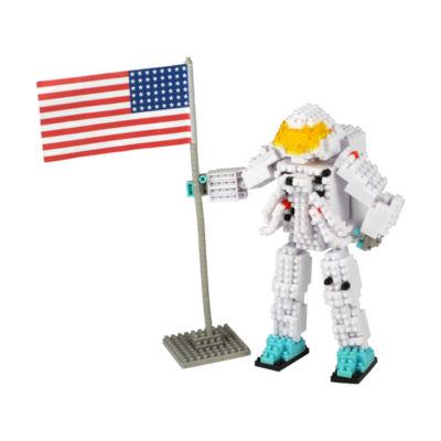 BePuzzled 3D Pixel Puzzle Deluxe - Astronaut: 517Pcs
