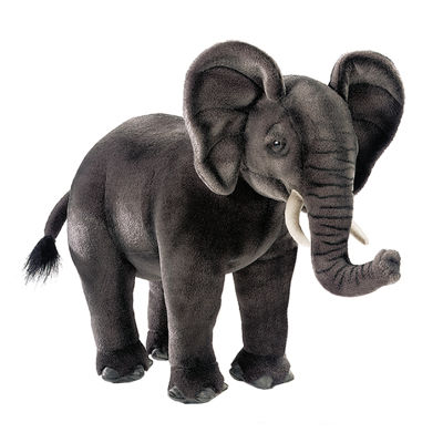 "Hansa African Elephant 17"" Plush Toy"""