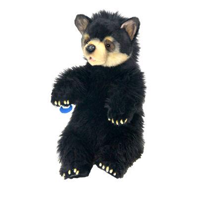 """Hansa Black Bear Cub 13"""" Plush Toy"""""""