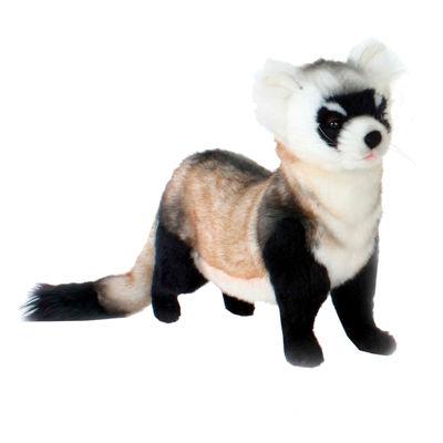 "Hansa Black Foot Ferret 16"" Plush Toy"""