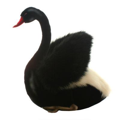 "Hansa Black Swan 11"" Plush Toy"