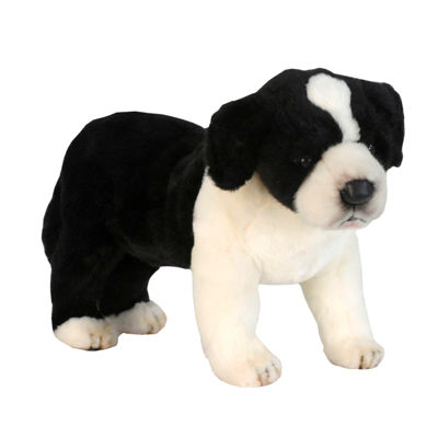"Hansa Border Colie Puppy 10"" Plush Toy"""