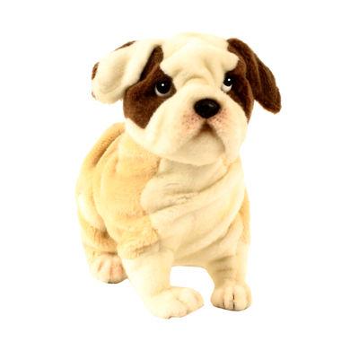 "Hansa Bulldog Puppy 11"" Plush Toy"""