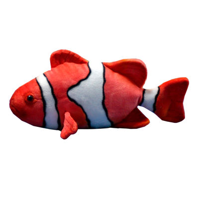 "Hansa Clown Fish 12.5"" Plush Toy"